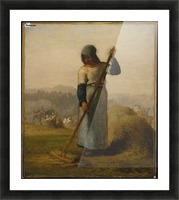 Woman with a Rake Picture Frame print