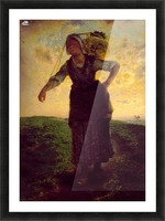 A Norman Milkmaid at Greville Picture Frame print
