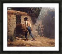 Peasant with a Wheelbarrow Picture Frame print