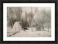 The Charcoal Burner's Hut Picture Frame print