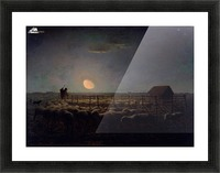 The Sheepfold, Moonlight Picture Frame print