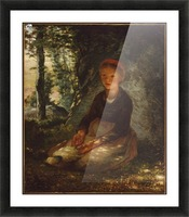 Shepherdess seated in the shade Picture Frame print