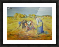 The gleaners Picture Frame print