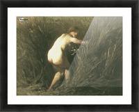 Nymphe dans les roseaux Picture Frame print