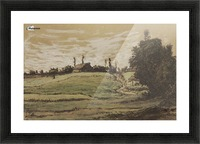 Ferme sur les hauteurs de Vichy Picture Frame print