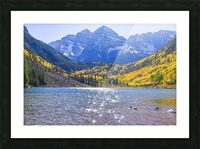 Maroon Lake and Bells Picture Frame print