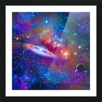 DEEP SPACE DRIFTING Picture Frame print
