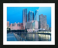 Shining Night  Picture Frame print