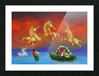 The Island Catcher Picture Frame print