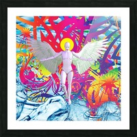 Angelic Robot Picture Frame print