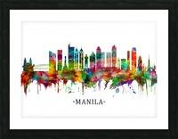 Manila Philippines Skyline Picture Frame print