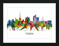 Turin Italy Skyline Picture Frame print