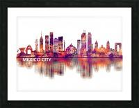 Mexico City Mexico Skyline Picture Frame print