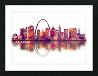 St. Louis Missouri Skyline Picture Frame print