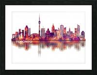 Toronto Canada Skyline Picture Frame print