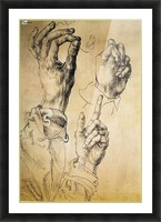 Study of Three Hands Picture Frame print
