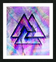 Valknut Colorful Picture Frame print