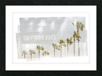 California Vibes   Vintage Picture Frame print