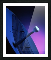 Blue Antenna Picture Frame print