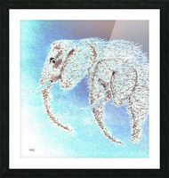 2 Elephants Picture Frame print