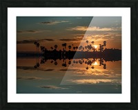 Sunset over Corona Del MAr California Picture Frame print