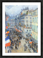 The 14th July, Rue Daunou by Hassam Picture Frame print