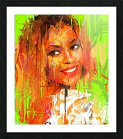 beyonce Picture Frame print
