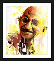 ghandi Picture Frame print