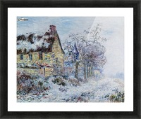 Snow Effect at Porte-Joie Picture Frame print