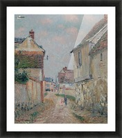 Mother and Child on the Street at Pontoise Picture Frame print