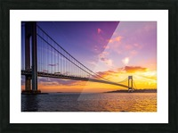 Verrazano bridge at sunset Picture Frame print