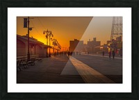 Sunset over the boardwalk Picture Frame print