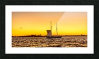 Sunset over the NY harbor Picture Frame print