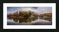 Central park lake panorama Picture Frame print