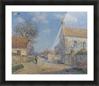 The Street of Saint-Cyr, the Sun Picture Frame print