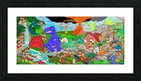 Dino Land Printed Mural Picture Frame print