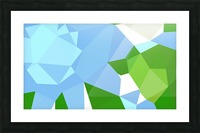 abstract geometric triangular art Picture Frame print