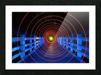 Space-Time Anomaly Picture Frame print