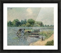 Laun Place on the Seine at Herblay Picture Frame print