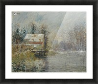 The House by the Water, Snow Effect Picture Frame print