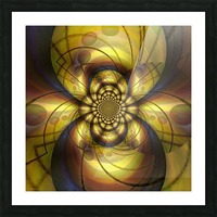 Geometric Fractal Picture Frame print