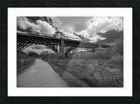 The bridge Picture Frame print