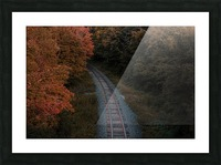 Train track Picture Frame print