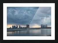 City at Ontario Lake Picture Frame print