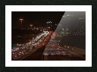 Busy road at night Picture Frame print