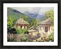 Village Scene Picture Frame print