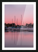 Sunset at the Lake Picture Frame print