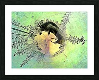 abstract baby moose  Picture Frame print
