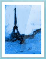 Paris Icon in Cyan Picture Frame print