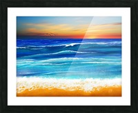 Sunset at 7pm Picture Frame print